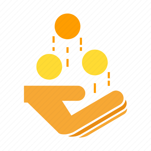 coin, finance, hand, hold, invest, money icon