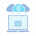 bitcoin, blockchain, cloud, computer, crypto, cryptocurrency, database, hosting, internet, laptop, network, server icon