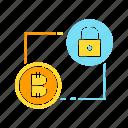 access, bitcoin, blockchain, crypto, cryptocurrency, encryption, key, protect, security icon