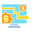 bitcoin, blockchain, computer, crypto, cryptocurrency, system icon