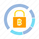 access, bitcoin, blockchain, cryptocurrency, encryption, key, lock, security icon