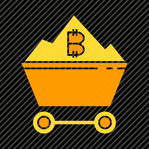 bitcoin, bitcoin mining, cryptocurrency, digital money, electronic money, mining icon