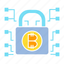 access, bitcoin, blockchain, cryptocurrency, encryption, lock, security icon