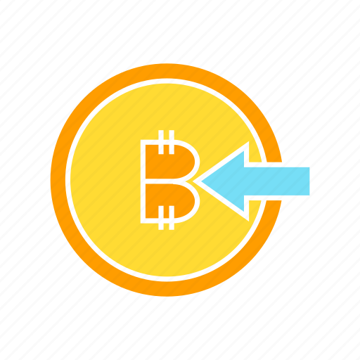bitcoin, blockchain, coin, cryptocurrency, inbound, input icon