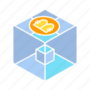 bitcoin, bitcoin mining, blockchain, box, cryptocurrency, cube icon