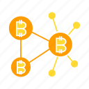 bitcoin, bitcoin mining, blockchain, connect, cryptocurrency, currency, decentralized, digital money, electronic money, finance, invest, money, network, payment, transaction icon
