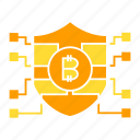 bitcoin, blockchain, encryption, protect, security, shield icon