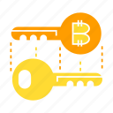 access, bitcoin, blockchain, electronic money, encryption, key, lock, privacy, security icon