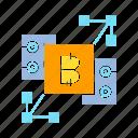 bitcoin, blockchain, chip, encryption, microchip icon