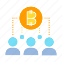 bitcoin, blockchain, crowd, people icon