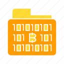 archive, binary, bitcoin, blockchain, file, folder icon