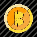 ban, bitcoin, blockchain, coin, cryptocurrency, electronic money, no icon