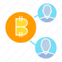 bitcoin, blockchain, connect, decentralized, link, network icon