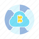 bitcoin, blockchain, cloud computing, cryptocurrency, internet, network icon