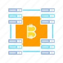 bitcoin, blockchain, connect, cryptocurrency, internet, link, network, router icon