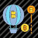 balloon, bitcoin, blockchain, bubble, cryptocurrency, float