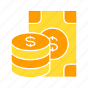 bank, coin, dollar, finance, invest, money icon