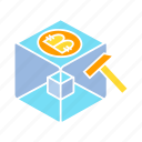 bitcoin, bitcoin mining, blockchain, cryptocurrency, cube, digital money, encryption icon