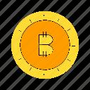 bitcoin, blockchain, coin, cryptocurrency, digital money, money icon