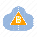 bitcoin, cloud, cloud computing, cryptocurrency, digital money, internet, network icon
