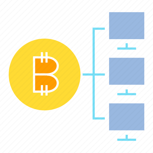 bitcoin, blockchain, computer, cryptocurrency, digital money, network icon