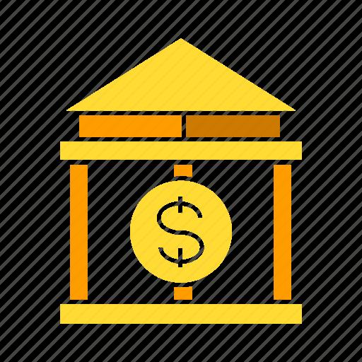 bank, dollar, finance, money icon