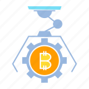 bitcoin, bot, crypto, digital money, robot icon