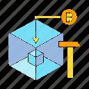 bitcoin, bitcoin mining, blockchain, crypto, digital money, encryption icon
