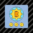 approve, bitcoin, blockchain, crypto, encryption, security icon
