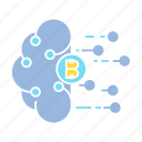 bitcoin, blockchain, cloud, crypto, network icon