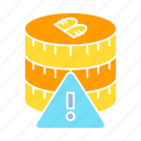 bitcoin, crypto, digital money, error, warning icon