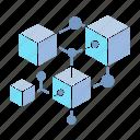 blockchain, connect, cube icon