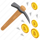 bitcoin mining, bitcoin payments, bitcoin transaction, cryptocurrency mining, digital currency transaction icon