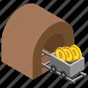 bitcoin cart, bitcoin mining, bitcoin trolley, cryptocurrency cart, mining cryptocurrency icon