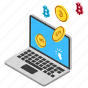 alternative currency, cryptocurrency, digital asset, digital money, medium of exchange icon