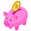 bitcoin cryptocurrency, bitcoin exchange, bitcoin investment, bitcoin piggy, piggy bank icon