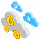 bitcoin cloud, bitcoin mining, bitcoin network, cloud mining, cryptocurrency cloud icon