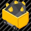 bitcoin mining trolley, crypto mining, cryptocurrency mining, mining cart, mining trolley icon