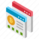 bitcoin web, bitcoin website, electronic cash, online bitcoin, online cryptocurrency icon
