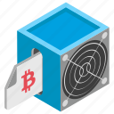 bitcoin hardware, cryptocurrency mining, hardware device, hardware for blockchain, mining hardware icon
