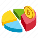 bitcoin analysis, bitcoin chart, bitcoin market, bitcoin pie, cryptocurrency market icon