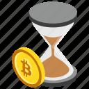 bitcoin transaction, blockchain transaction, pending bitcoin, pending transaction, unconfirmed cryptocurrency icon