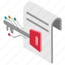 cryptographic key, digital key, paper key, printed key, private key icon