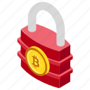 bitcoin encryption, bitcoin lock, safe cryptocurrency, secure bitcoin icon