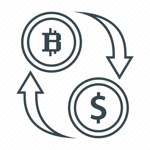 bitcoin, cryptocurrency, currency, dollar, exchange, valuta icon