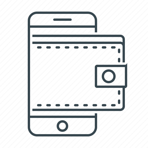 Mobile wallet, phone, digital, online wallet, wallet icon
