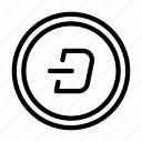 digital, currency, darkcoin, darknet, crypto icon