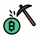 currency, mining, crypto, bitcoin, digging