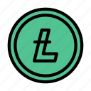 crypto, lithium, marketing, currency, digital icon