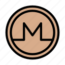 crypto, marketing, monero, currency, digital icon